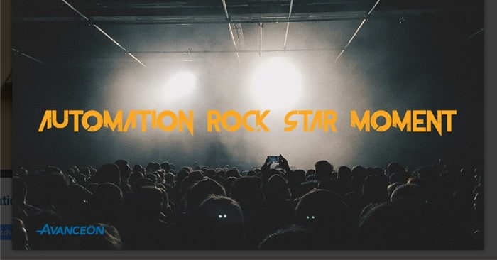Automation Rock Star Moment #1