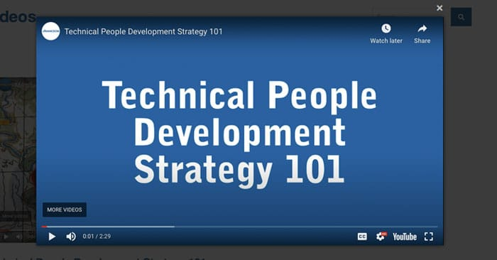 Technical People Development Strategy 101