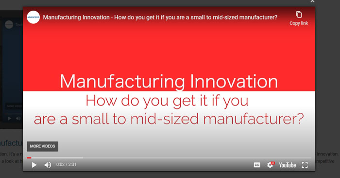 Manufacturing Innovation - How do you get it if you are a small to mid-sized manufacturer?